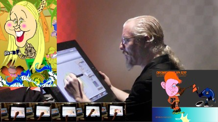 Live Digital Caricatures Animated